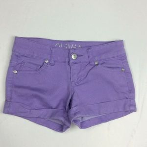 Delia's Olivia Ladies Purple Cuffed Shorts Sz 00